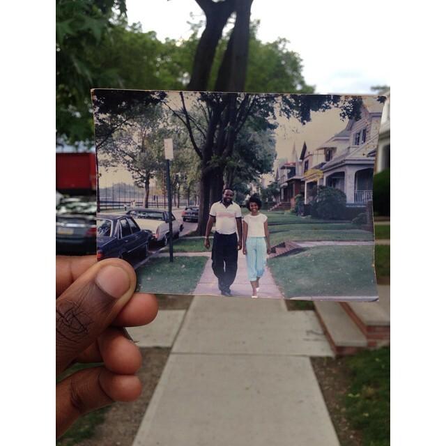 Emmanuel Falaise recriou um retrato de 31 anos do seu pai