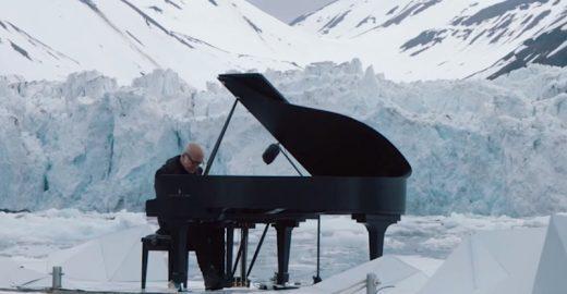 Pianista toca no Ártico para alertar sobre as mudanças climáticas