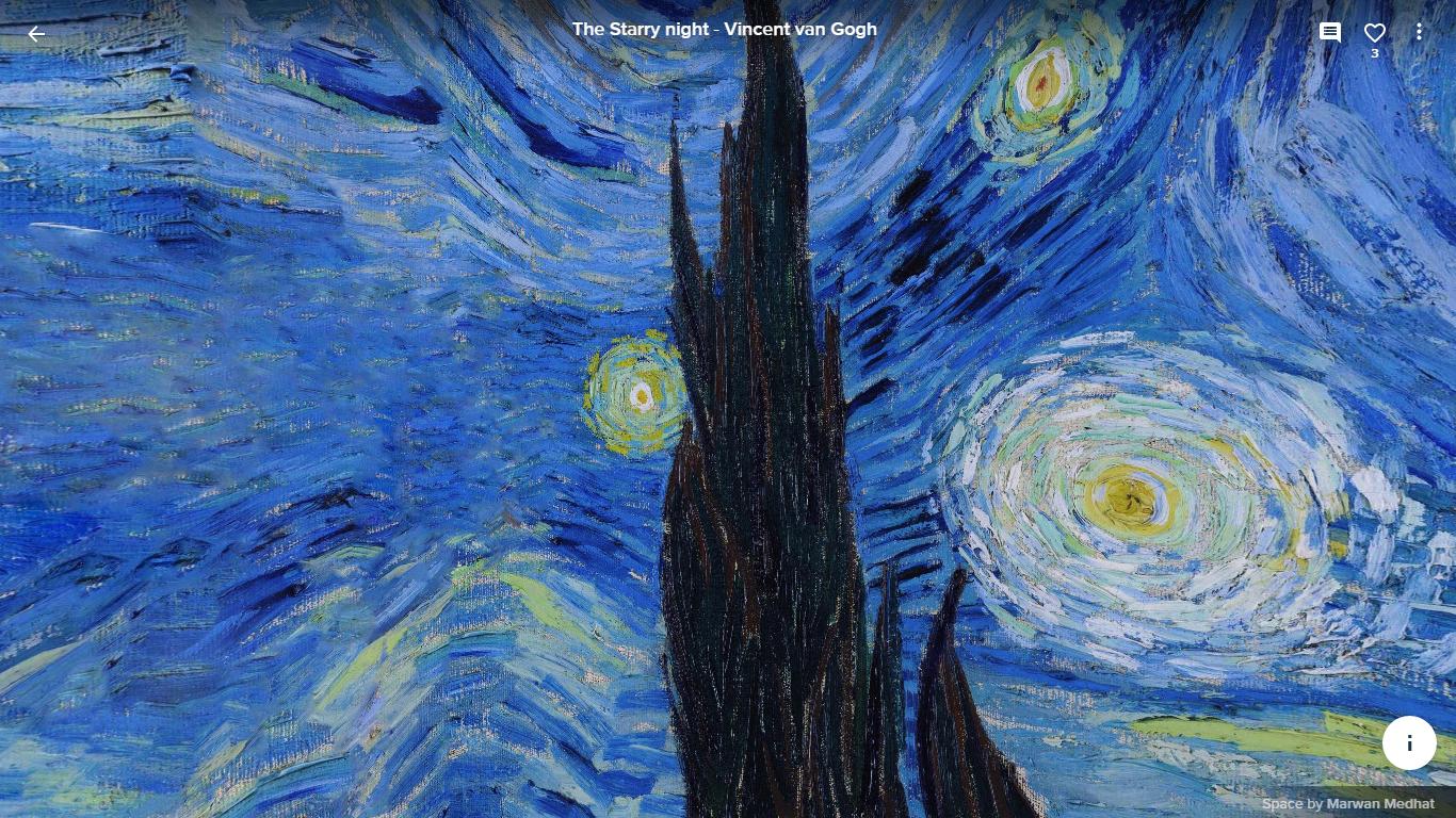 Egipcio Cria Versao Em 360º De Noite Estrelada De Van Gogh