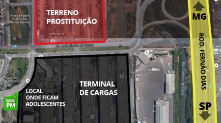 O crime acontece próximo à uma base da PM e de um terminal de cargas