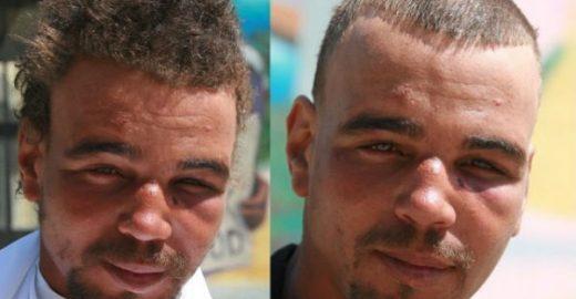 Hairstylist oferece cortes gratuitos para moradores de rua