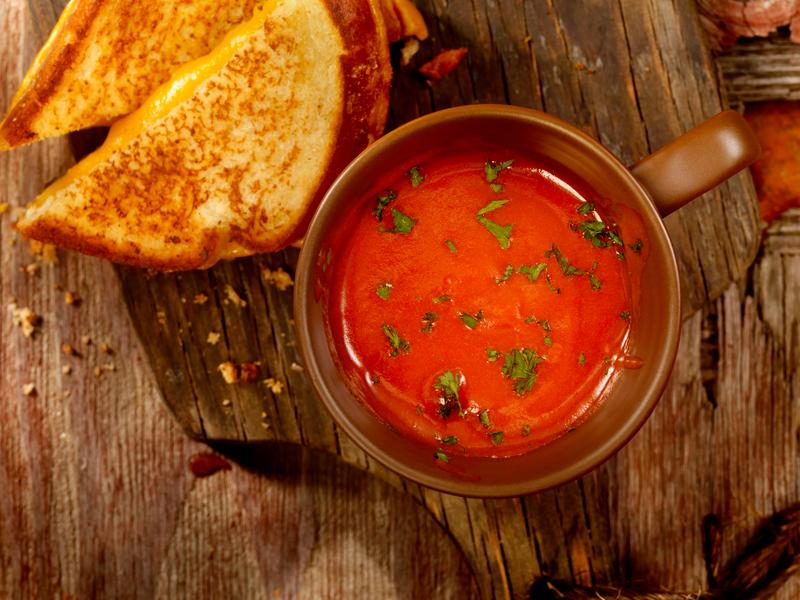 Sopa de tomate era um dos pratos permitidos