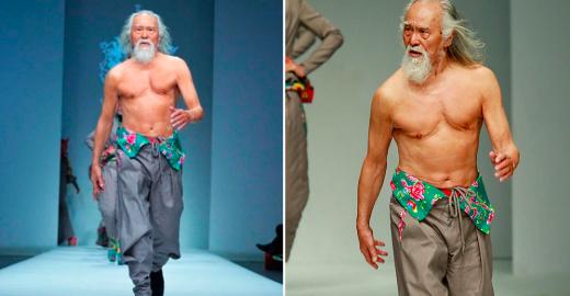 Homem de 80 anos brilha como modelo