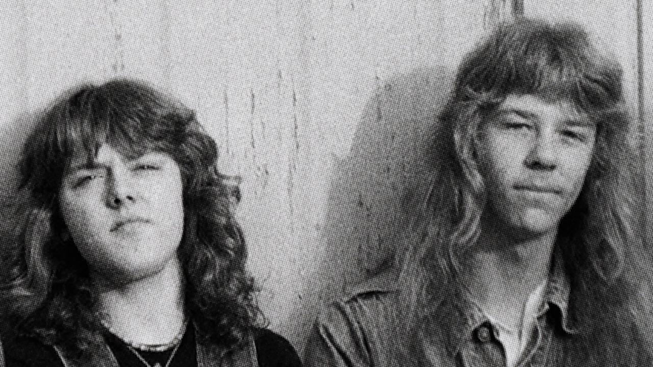 Lars Ulrich e James Hetfield do Metallica em imagem do documentário