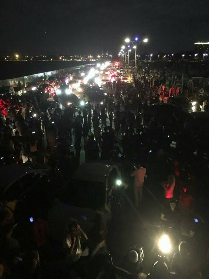 Nem mesmo de noite os taiwaneses deram trégua