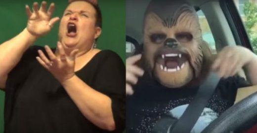 Mulher traduz vídeos virais da internet para linguagem de sinais