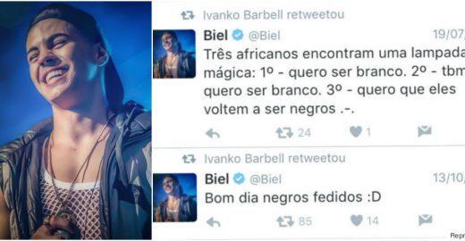 Resgataram os tweets antigos do cantor MC Biel