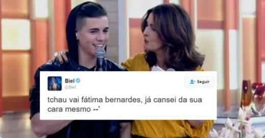 Criticada por Biel, Fátima Bernardes manda recado para o cantor