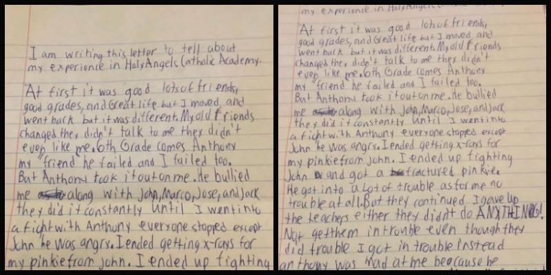 Carta de suicídio escrita por Daniel