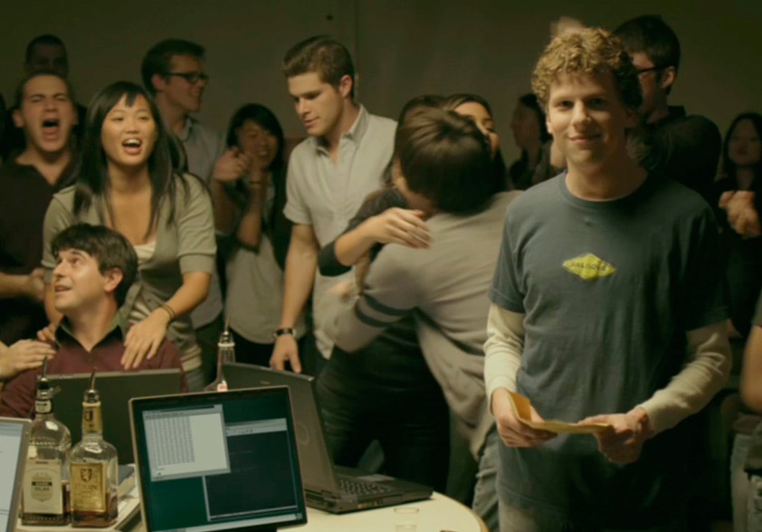 """Foto promocional do filme """"A rede social"""" que está na lista de filmes da Netflix pra quem se interessa por marketing"""