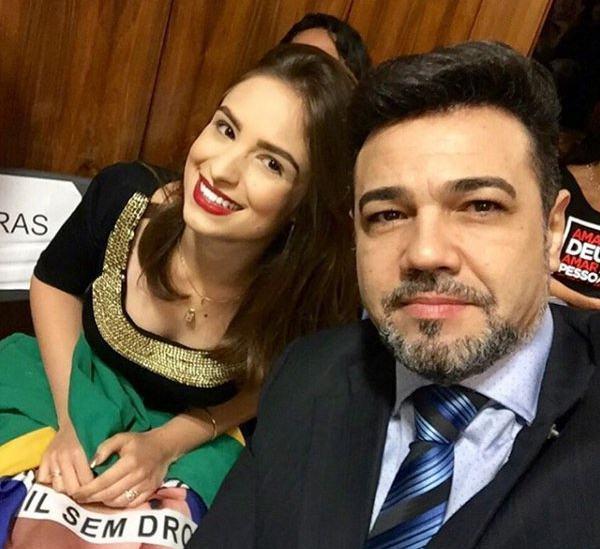Ex-militante do PSC Patrícia Lélis e Marco Feliciano