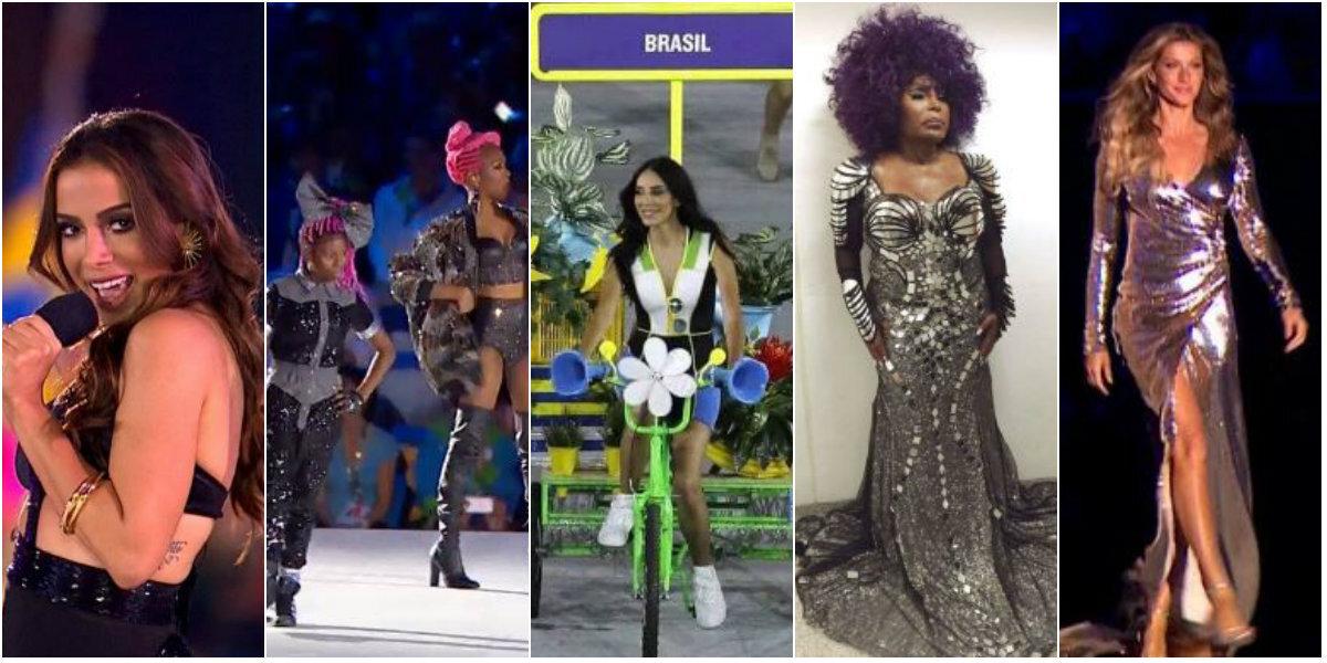 Algumas das mulheres que protagonizaram a abertura da Olimpíada