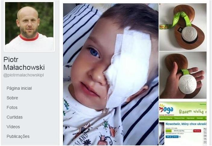 Polonês leiloará medalha para ajudar tratamento de criança com câncer