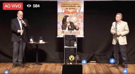 Fabiola, no centro, mediando o debate