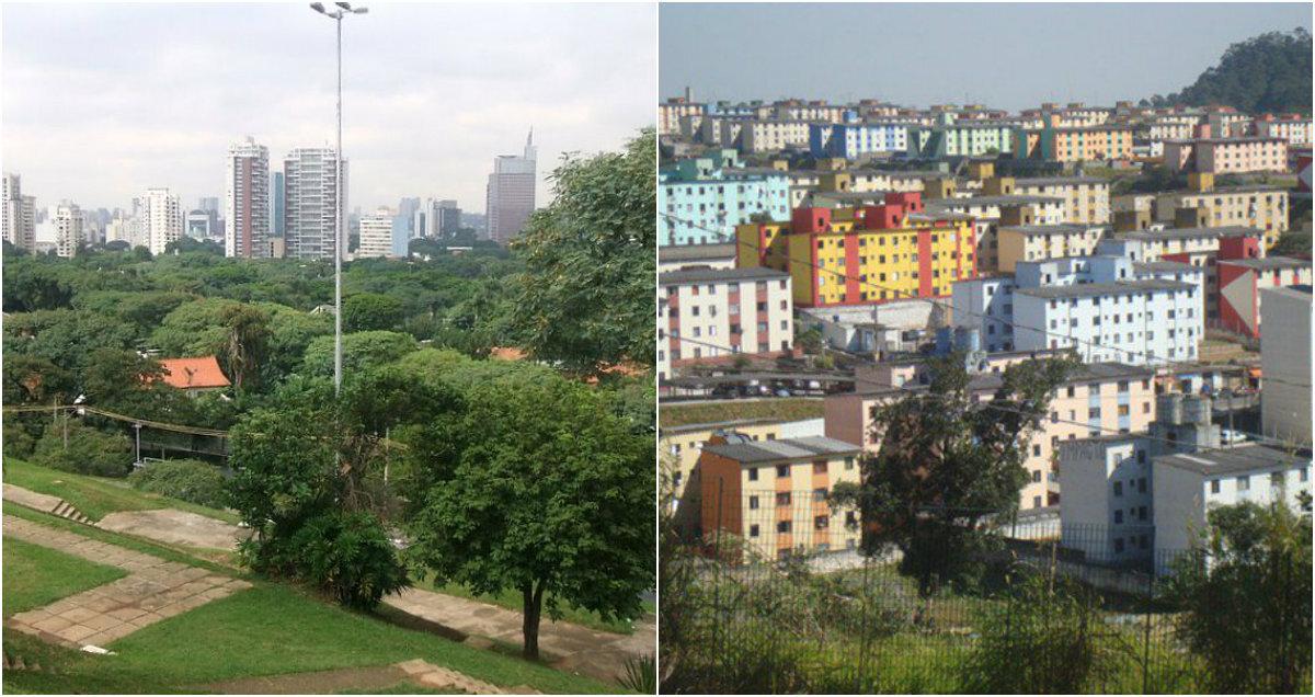 O morador de Alto de Pinheiros tem uma melhor qualidade de vida que o de Cidade Tiradentes