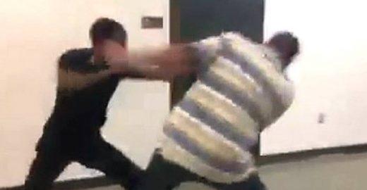 Aluno e professor se agridem após estudante se atrasar
