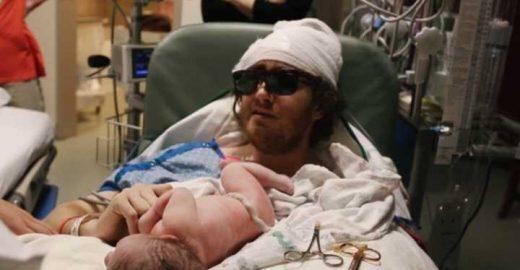 Homem com câncer terminal testemunha nascimento de primogênito