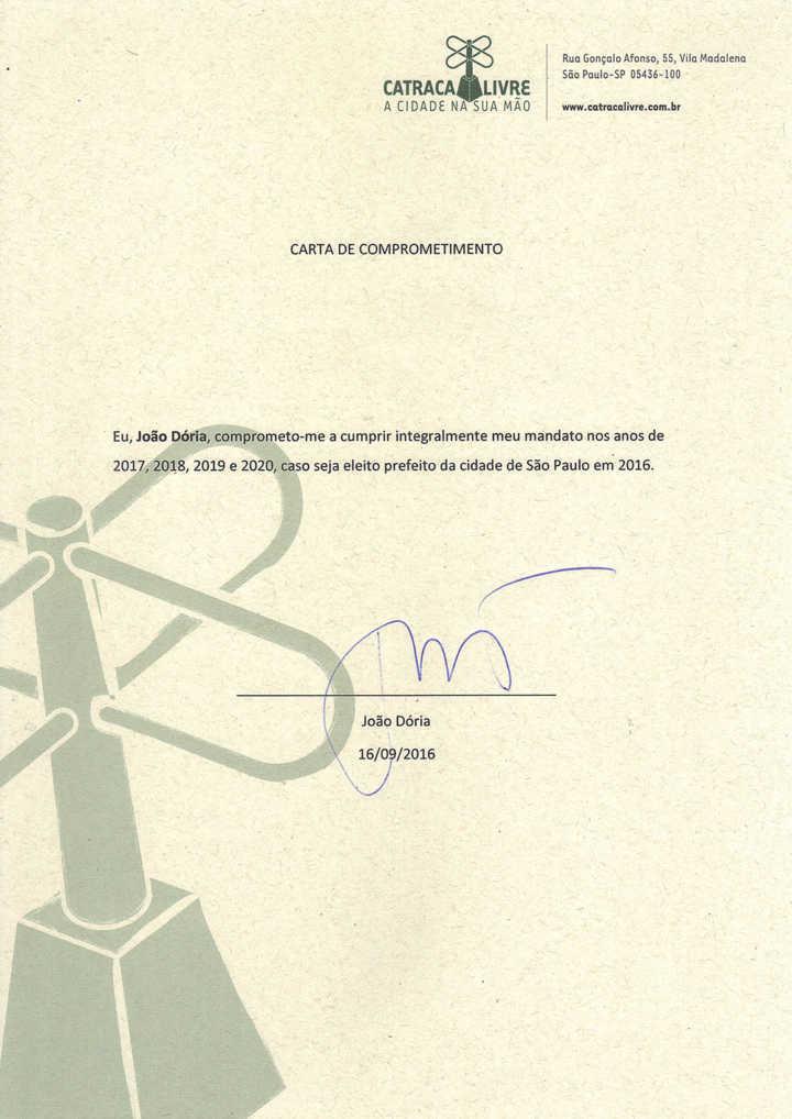 Carta assinada