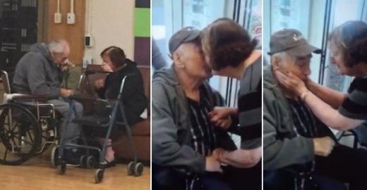 Casal de idosos é reunido depois de foto de despedida viralizar