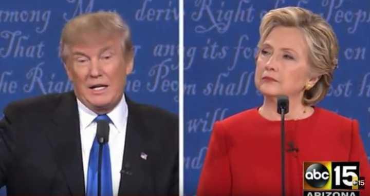 O debate foi marcado pela troca de acusações e ironias entre Trump e Hillary