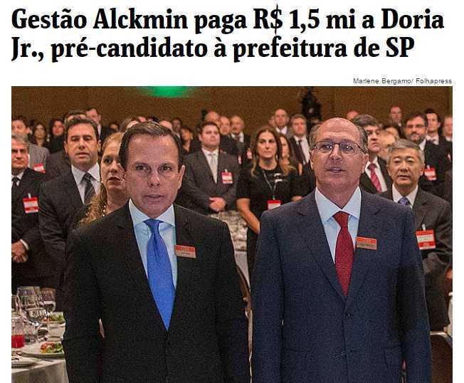 Internet relembra matéria que revela pagamento de R$ 501 mil por anúncio do governo do Estado à revista de Doria