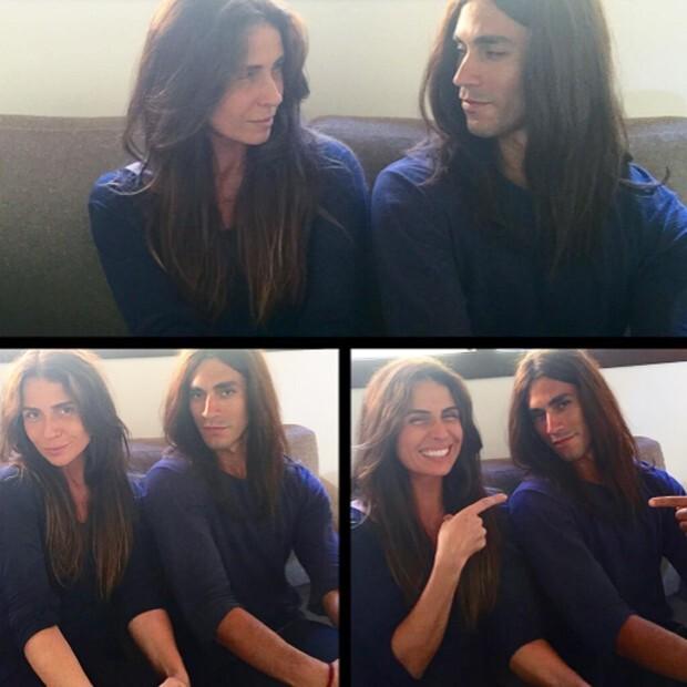 A atriz e seu dublê
