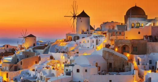 Oia tem o pôr do sol mais espetacular da Grécia