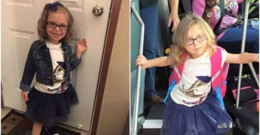 Foto de menina antes e depois da escola bomba na internet