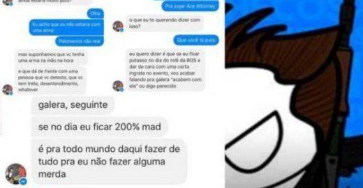 Membro de fanpage do Facebook ameaça cosplayer na BGS 2016