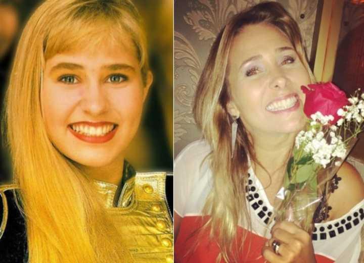 Andréia Faria, a Sorvetão, entrou no lugar de uma segunda assistente de Xuxa chamada Heloísa Morgado