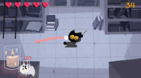 Em novo game do Google você vive um gato feiticeiro