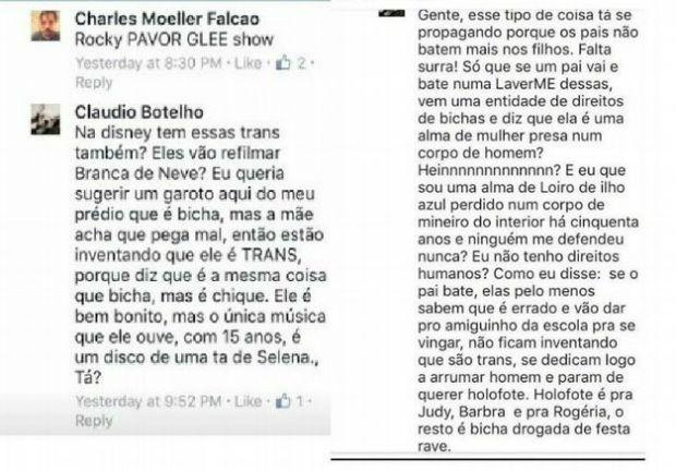 Comentários do ator que teriam sido apagados após críticas nas redes sociais