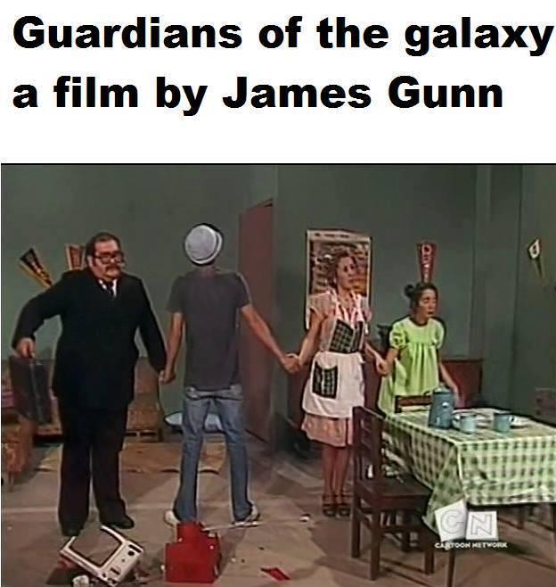 Os Guardiões da Galáxia, cópia de Chaves dirigida por James Gunn