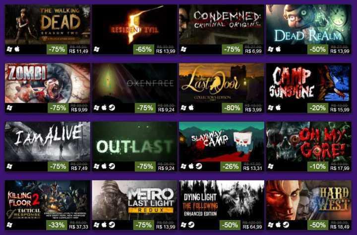 Promoção de de Dia das Bruxas no Steam tem diversos games de terror com descontões..