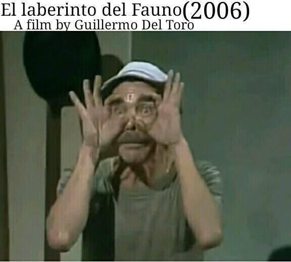 O Labirinto do Fauno, cópia de Chaves dirigida por Guilermo Del Toro