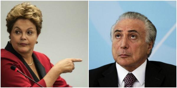 A Ex-presidente Dilma e o atual, Michel Temer