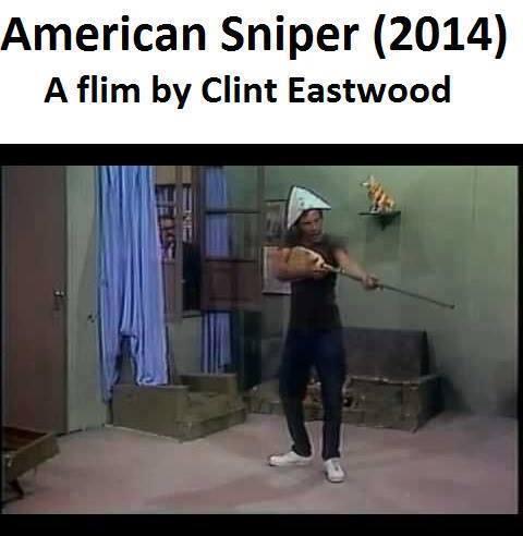 Sniper Americano, cópia de Chaves dirigida por Clint Eastwood