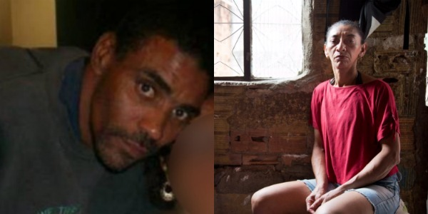 Amarildo foi torturado e morto por PMs em 2013. Ao lado, sua esposa.