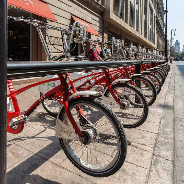 O México criou benefícios para quem utilizar as bicicletas como meio de transporte