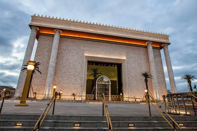 Templo de Salomão da Igreja Universal na região central de São Paulo