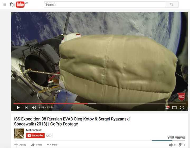 O vídeo de 2013 dos astronautas russos