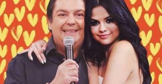 Beijo de Faustão para Selena Gomez vira o assunto do dia na web
