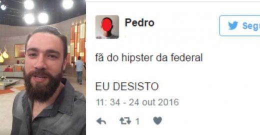 Hipster da Federal vai à programa de Fátima e vira assunto do dia