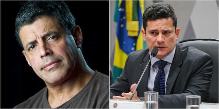 O ator Alexandre Frota e o juiz Sergio Moro