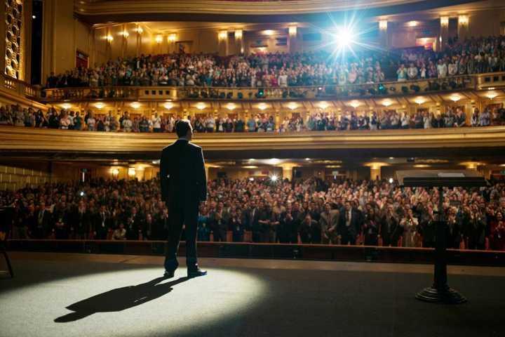 """Cena do filme """"Steve Jobs"""", que retrata a vida de um dos grandes oradores de nosso tempo"""