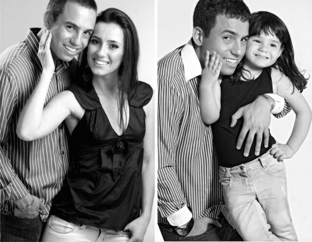 Fotos de pai e filha homenageando a mãe que morreu
