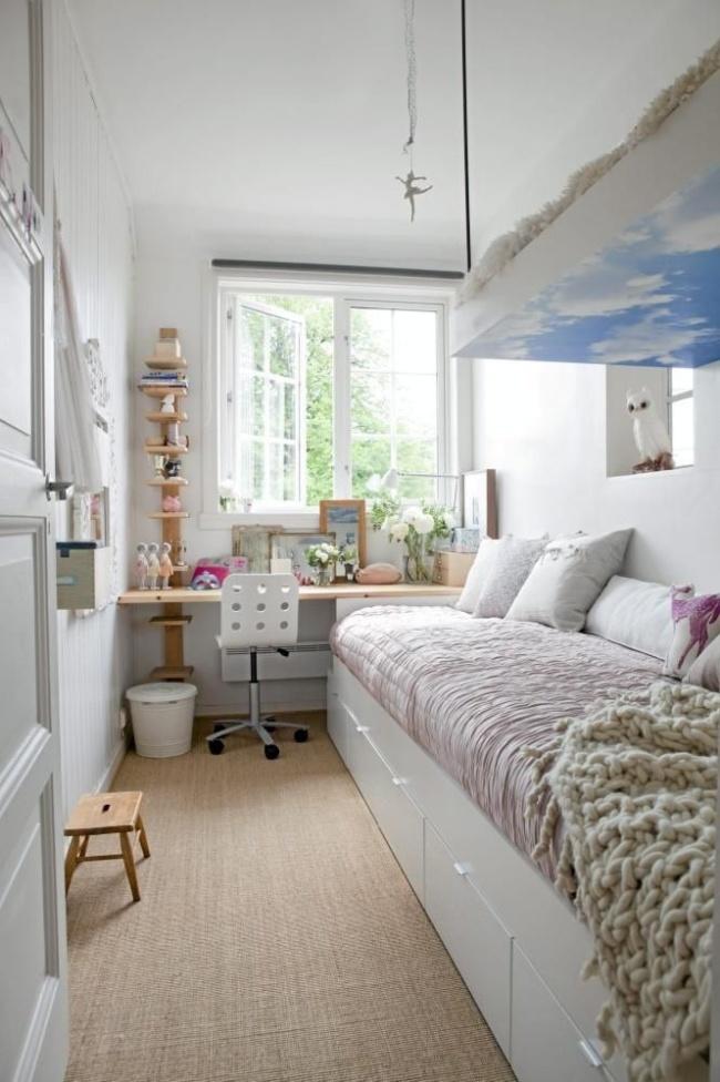 Ótima idéia para salas estreitas com formato retangular