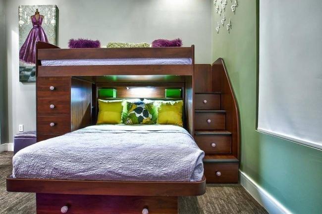 A utilização fantástica de espaço no quarto