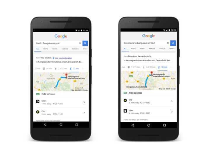 Função integra busca de destinos com ofertas de aplicativos de mobilidade.