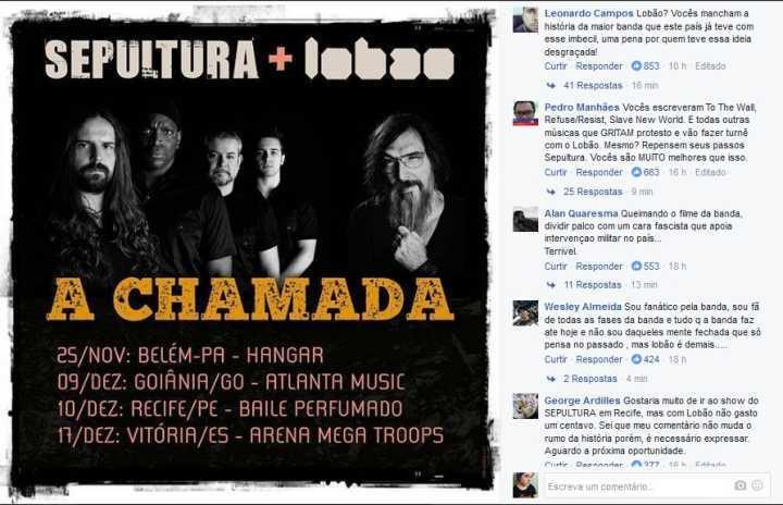 Anúncio de turnê com Lobão gera críticas nas redes sociais